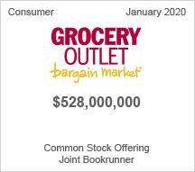Grocery Outlook - $528 million Common Stock Offering - Joint Bookrunner
