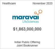 Maravai - $1.8 billion Initial Public Offering, Joint Bookrunner