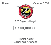 EFS Cogen Holdings I - $1.1 billion Credit Facility - Joint Lead Arranger