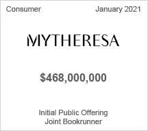 MyTheresa - $468 million Initial Public Offering - Joint Bookrunner