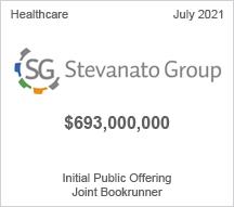 Stevanato Group - $693 million Initial Public Offering - Joint Bookrunner