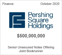 Pershing Square Holdings - $500 million Senior Unsecured Notes Offering - Joint Bookrunner