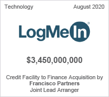 LogMeIn - $3.45 billion Credit Facility to Finance Acquisition by Francisco Partners - Joint Lead Arranger