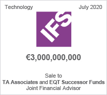 IFS - €3 billion Sale to TA Associates and EQT Successor Funds - Joint Financial Advisor