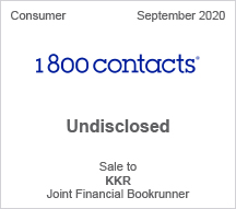 1800contacts -  Undisclosed - Sale to KKR - Joint Financial Bookrunner