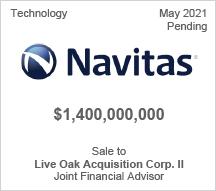 Navitas - $1.4 billion - Sale to Live Oak Acquisition Corp. II. - Joint Financial Advisor