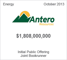 Antero Resources $1.8 billion Initial Public Notes Offering