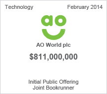 AO World plc $811 million Initial Public Offering
