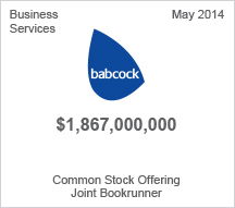 Babcock $1.8 billion Common Stock Offering