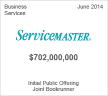 Servicemaster $702 million Initial Public Offering