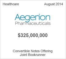 Aegerion $325 million Convertible Notes Offering