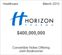 Horizon Pharma $400 million Convertible Notes Offering