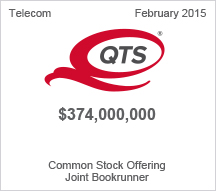 QTS Realty $374 million Common Stock Offering