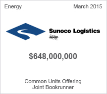 Sunoco $648 million Common Units Offering