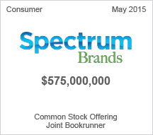 Spectrum Brands $575 million Common Stock Offering