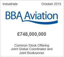 BBA Aviation £748,000,000 Common Stock Offering