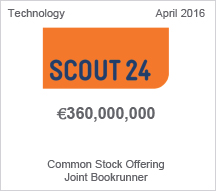 Scout24 €360 million Common Stock Offering