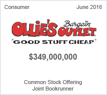 Ollie's Bargain Outlet $349 million Common Stock Offering