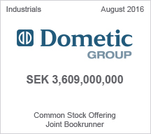 Dometic Group SEK 3,609,000,000 Common Stock Offering