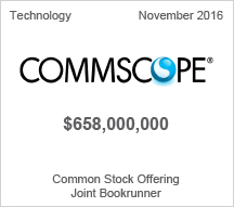 Commscope $658 million - Common Stock Offering