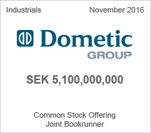 Dometic Group SEK 5,100,000,000 Common Stock Offering
