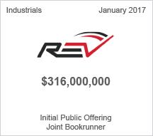 REV Group, Inc. $316 million Initial Public Offering