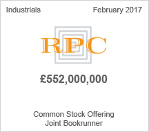 RPC £552 million Common Stock Offering