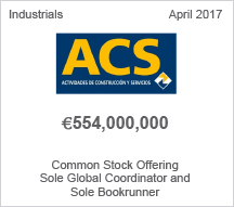 ACS €554 million Common Stock Offering