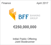 BFF Banking Group $250 million - Initial Public Offering