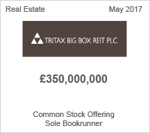 Tritax Big Box PLC £350 million Common Stock Offering