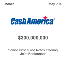 Cash America $300 million Senior Unsecured Notes Offering