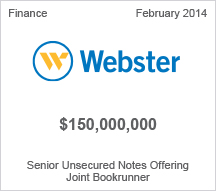 Webster $150 million Senior Unsecured Notes Offering