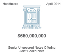 Senior Housing Properties Trust $650 million Senior Unsecured Notes Offering