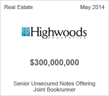 Highwoods Properties $300 million Senior Unsecured Notes Offering