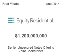 Equity Residential $1.2 billion Senior Unsecured Notes Offering