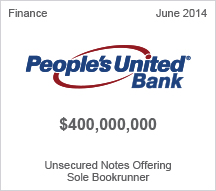 People's United Bank $400 million Unsecured Notes Offering