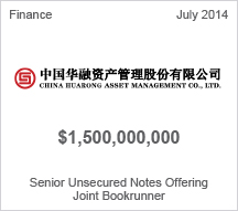 China Huarong Asset Management Co., Ltd. $1.5 billion Senior Unsecured Notes Offering