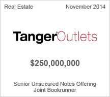 Tanger Outlets $250 million Senior Unsecured Notes Offering