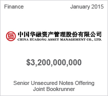 China Huarong Asset Management Co., Ltd. $3.2 billion Senior Unsecured Notes Offering