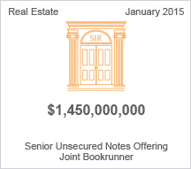 Select Income REIT $1.45 billion Senior Unsecured Notes Offering