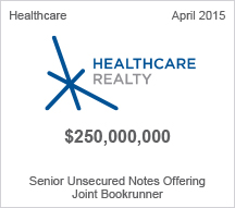 Healthcare Realty $250 million Senior Unsecured Notes Offering