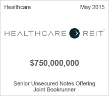 Healthcare Reit $750 million Senior Unsecured Notes Offering