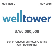 Welltower $750 million Senior Unsecured Notes Offering