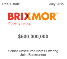 Brixmore Property Group $500 million Senior Unsecured Notes Offering
