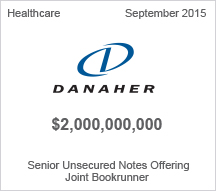 Danaher $2 billion Senior Unsecured Notes Offering