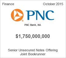 PNC Bank $1.75 billion Senior Unsecured Notes Offering
