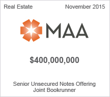 Mid-America Apartment  $4 million Senior Unsecured Notes Offering
