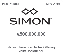 Simon €500 million Senior Unsecured Notes Offering