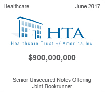 Healthcare Trust of America $900 million Senior Unsecured Notes Offering