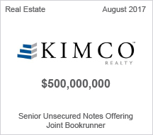 KIMCO Realty - $500 million Senior Unsecured Notes Offering